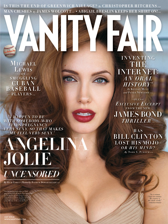 "Angelina Jolie on being pregnant: ""I love it. It makes me feel like a woman."